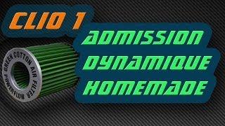kit admission dynamique Clio 1 (moteur renault energy 1.4 L)