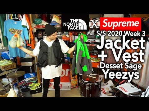 Supreme SS20 Week 3 TNF Jacket + Vest Review | Desert Sage Yeezys | White Tee