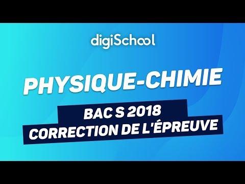 Bac S 2018 - Correction de l'épreuve de Physique-Chimie (Obligatoire + Spécialité)