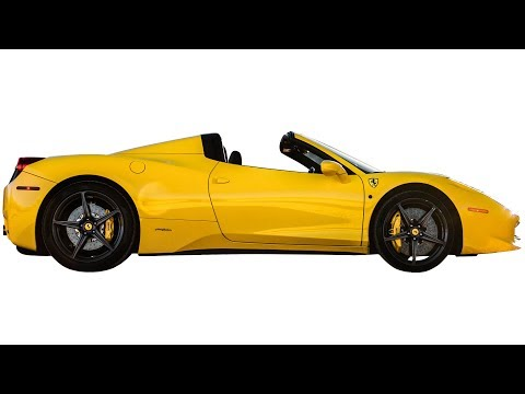 Rent a 2015 Ferrari 458 Italia Convertible Yellow in Las Vegas | Royalty Exotic Cars