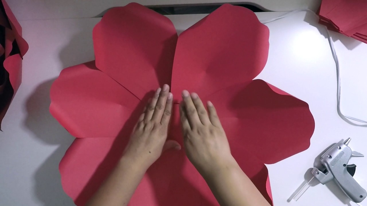 paper flower templates large