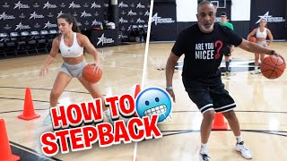 How to STEP BACK and MAKE MOVES on Defenders with a Jumper 🔥