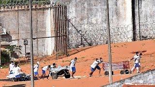 Бунт в бразильской тюрьме Алькасуш  десятки погибших и раненых