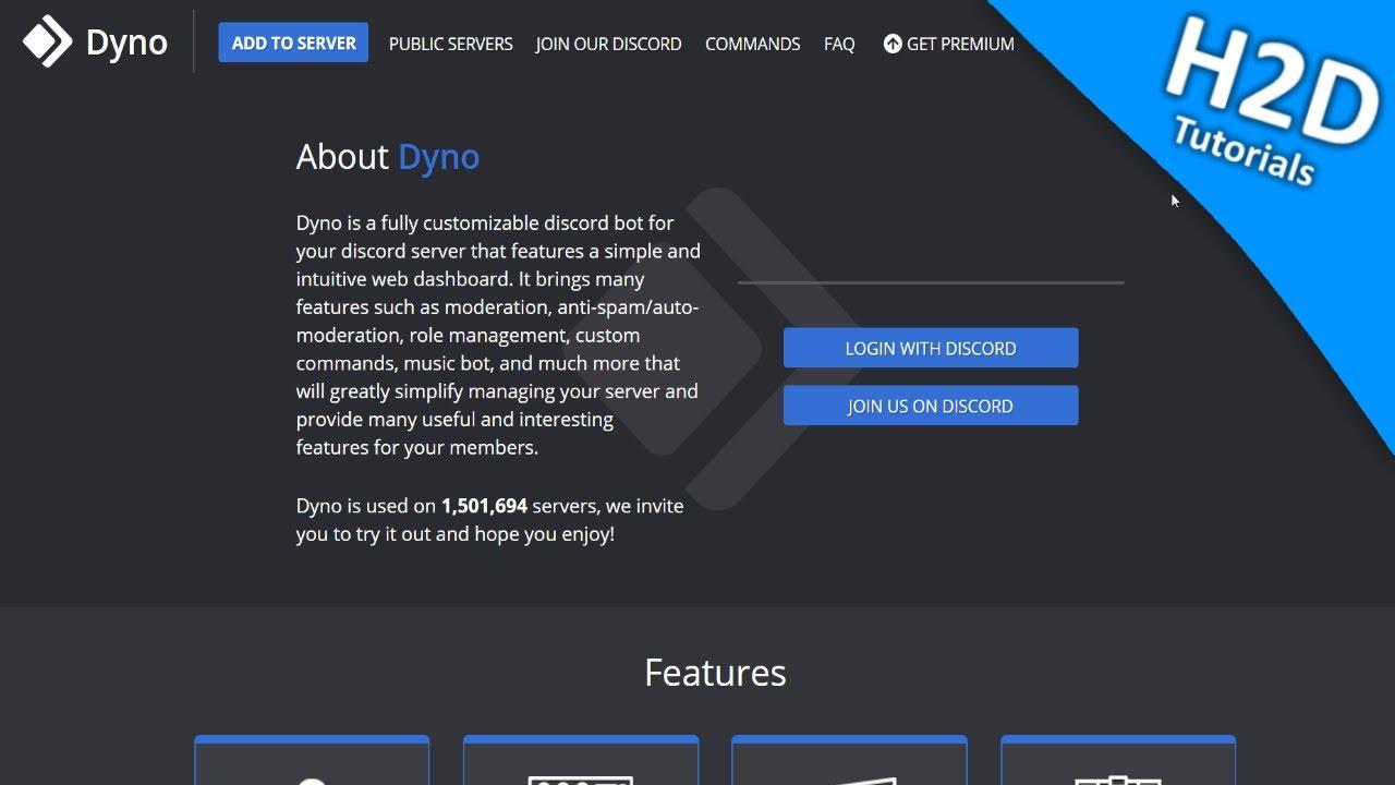 How2Dyno - Inviting Dyno Bot (v4 Dashboard)