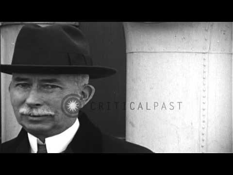 Colonel Edward Mandell House, foreign policy advisor of President Woodrow Wilson ...HD Stock Footage