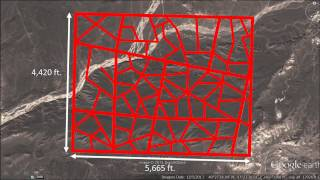 Strange Grid on a China Plateau  200 miles east of the Taklimakan Desert