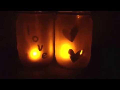 Etched Mason Jar Lanterns for Weddings