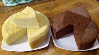 Vanilla sponge cake and Chocolat Sponge Cake In Stove/চুলায় তৈরি ভ্যানিলা ও চকলেট স্পজ কেক রেসিপি