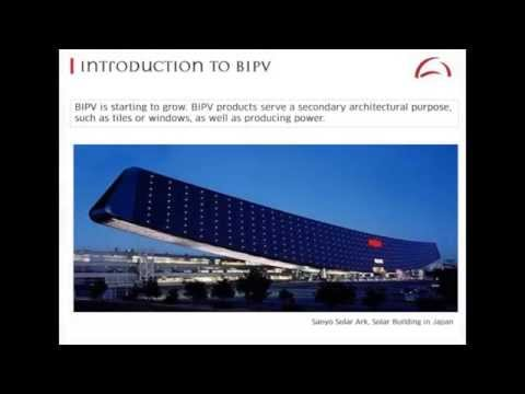 Dr.Harter's lecture on BIPV. Part#2: Introduction to building integrated PV.