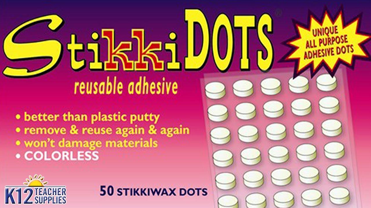 StikkiWAX Reusable Adhesive Sticks 15//Pkg-Colorless