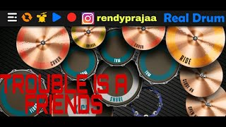 Trouble is a friends (Lenka) || Real Drum cover