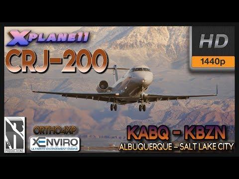 XP11 | CRJ-200 | FULL FLIGHT | 1440p | KABQ - KSLC | ORTHO4XP | xENVIRO