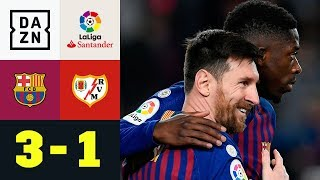 Lionel Messi trifft und legt auf: FC Barcelona - Rayo Vallecano 3:1 | La Liga | DAZN | Highlights
