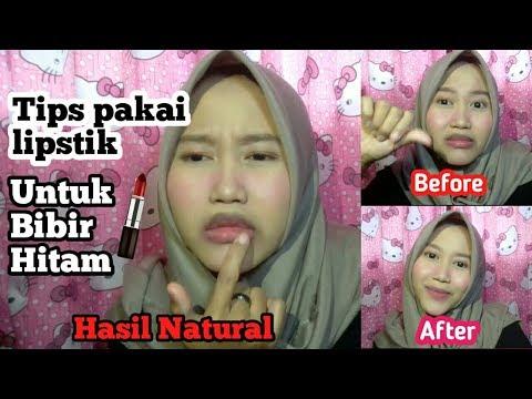 tips-memakai-lipstik-untuk-bibir-hitam|hasil-natural