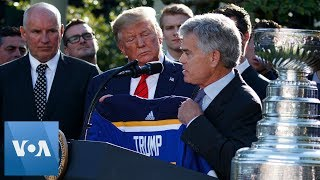 President Trump Welcomes Stanley Cup Champions to the White House