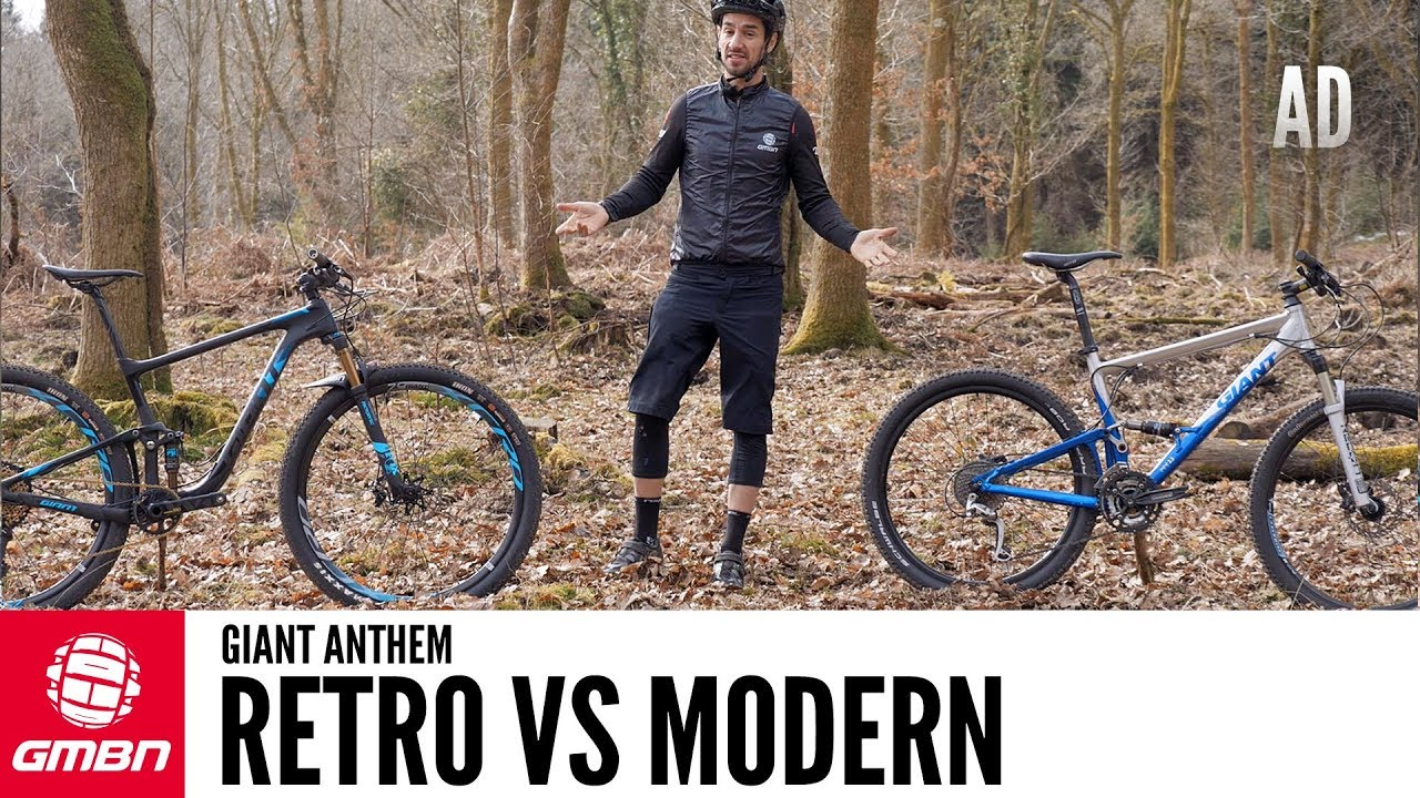 8c391de0163 Retro Vs Modern Full Suspension Bike | The Giant Anthem Through The Years