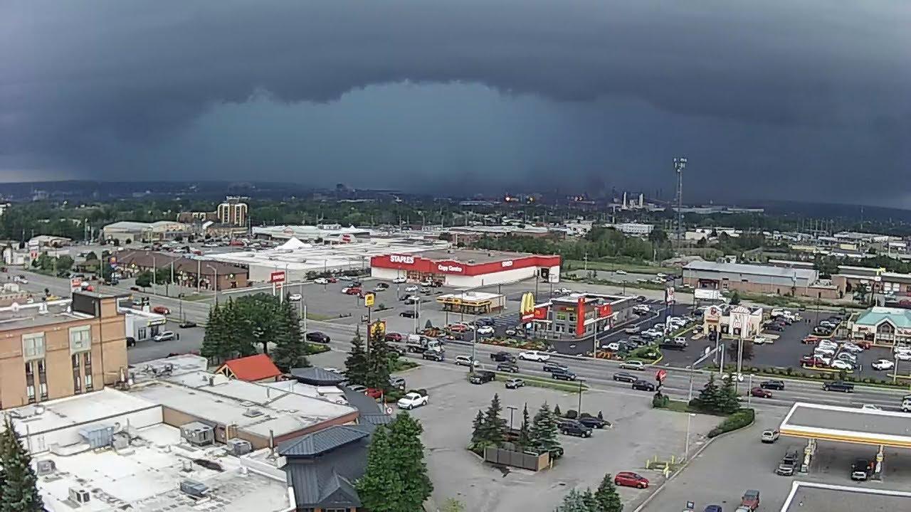 severe thunderstorms pummel sault ste marie youtube