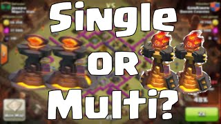 Clash of Clans Inferno Tower Strategy: Single or Multi?