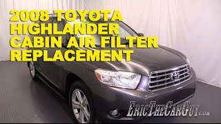 2007-2013 Toyota Highlander Cabin Air Filter Replacement -Ericthecarguy
