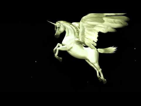 Flying Unicorn Animated Logo