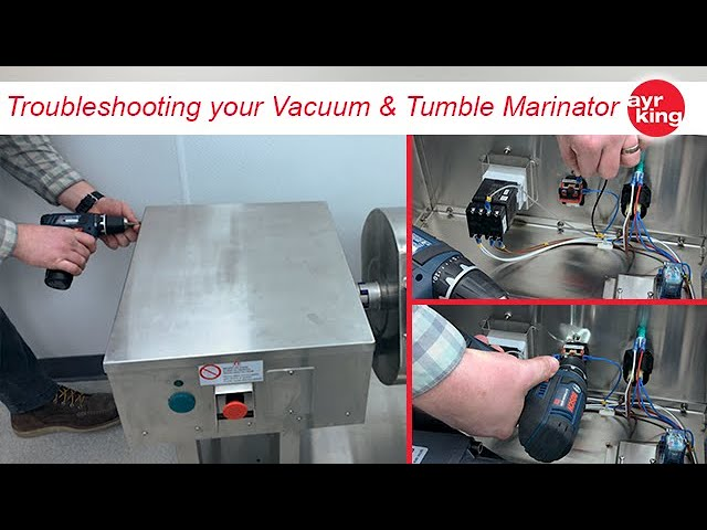 AYRKING DIY:  Troubleshooting Vacuum and Tumble Marinator Emergency Stop Switch