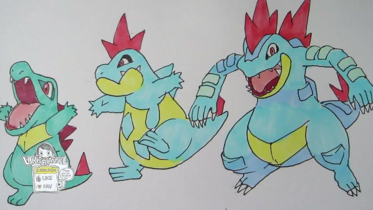 Uncategorized How To Draw Totodile how to draw pokemon no 158 totodile 159 croconaw 160 feraligatr youtube