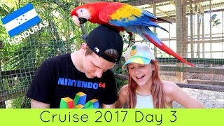 I held a SLOTH!!! Cruise Vlog Day 3 2017 | Excursion to Honduras