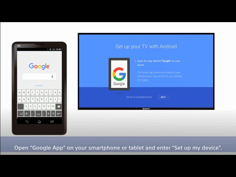 Sony BRAVIA : Easy Settings for Google Account - Account Transfer -