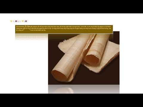 giấy papyrus