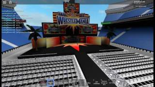 wrestlemania entrance with aj styles theme song on roblox