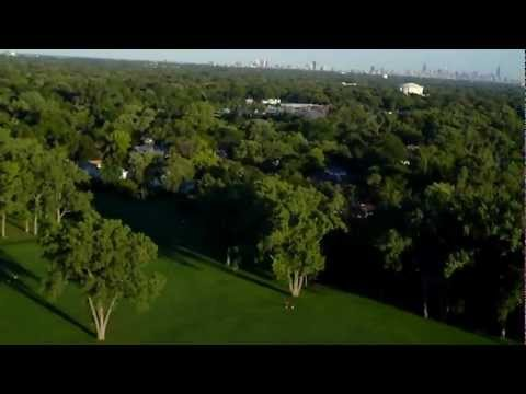 RC EasyStar over Evanston park