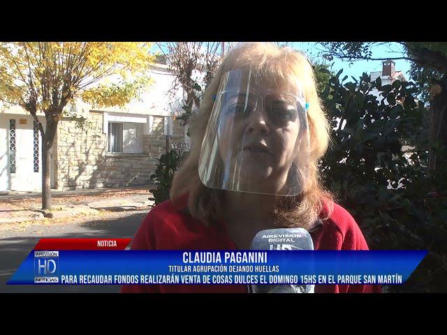 Claudia Paganini Dejando Huellas hará una feria de platos dulces para recaudar fondos