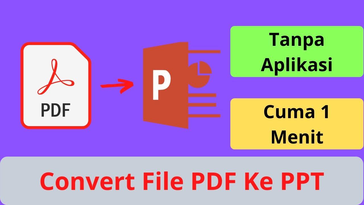 Cara Convert File PDF ke Power Point - YouTube
