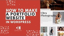How to Make a Portfolio Website For 2019 | WordPress Portfolio Tutorial