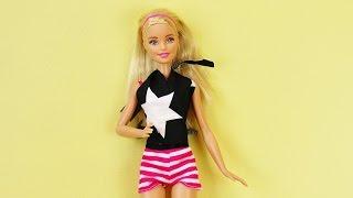DIY Kleidung für Barbie selber machen   Tolles Sommertop in 5 Minuten ohne nähen   Fashion