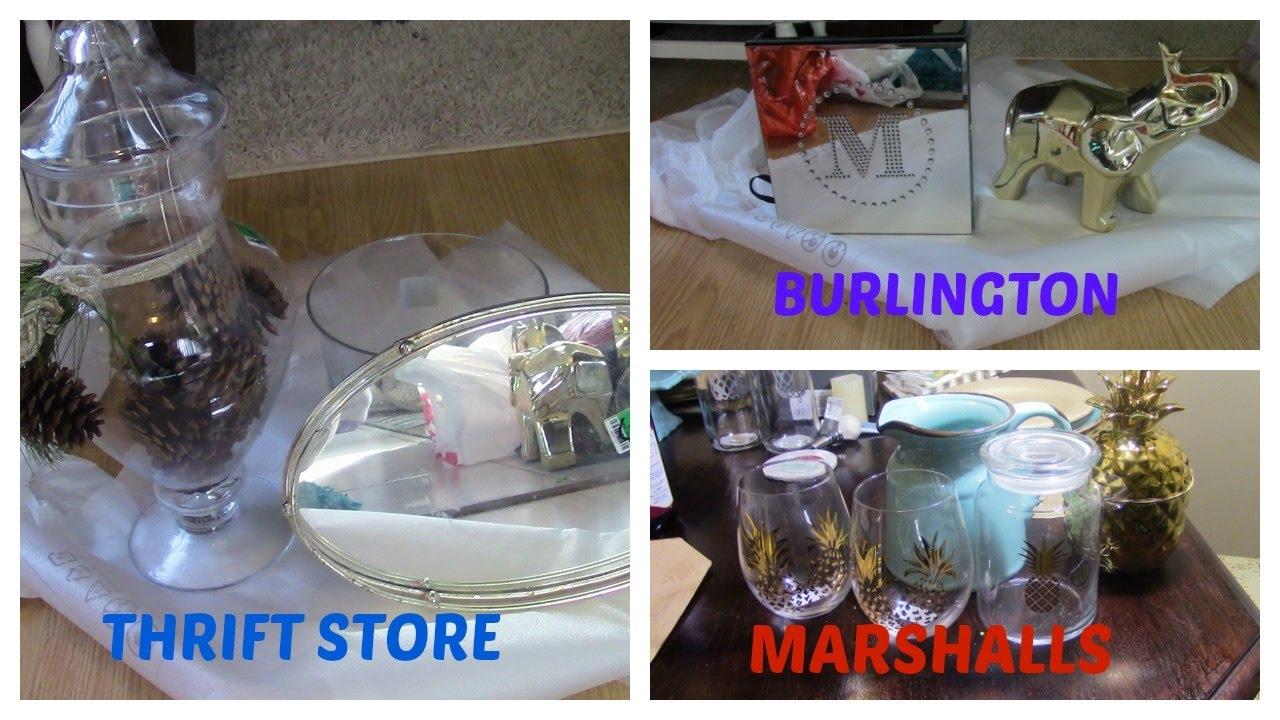 home decor haul: thrift store, marshalls, burlington, & target