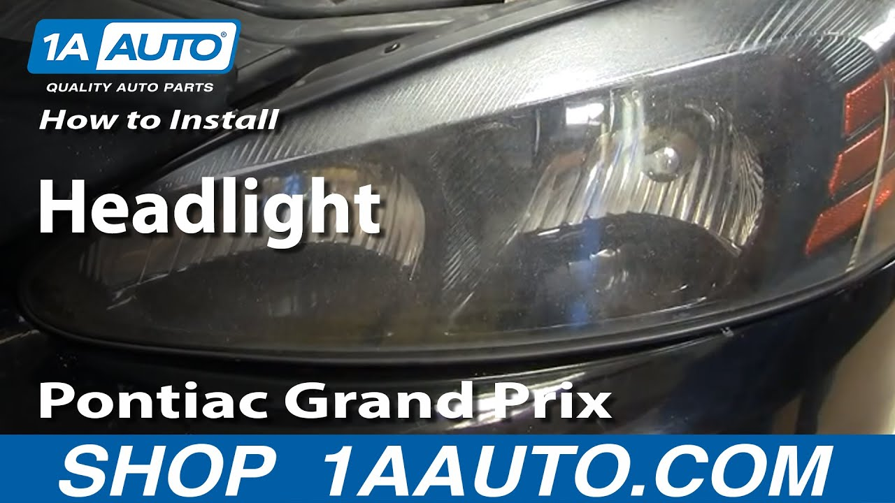 How To Install Replace Headlight Pontiac Grand Prix 04 08 1aautocom 2000 Engine Diagram Water Pump On A 3 8 Motor