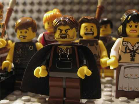Theseus and the Minotaur Lego Animation
