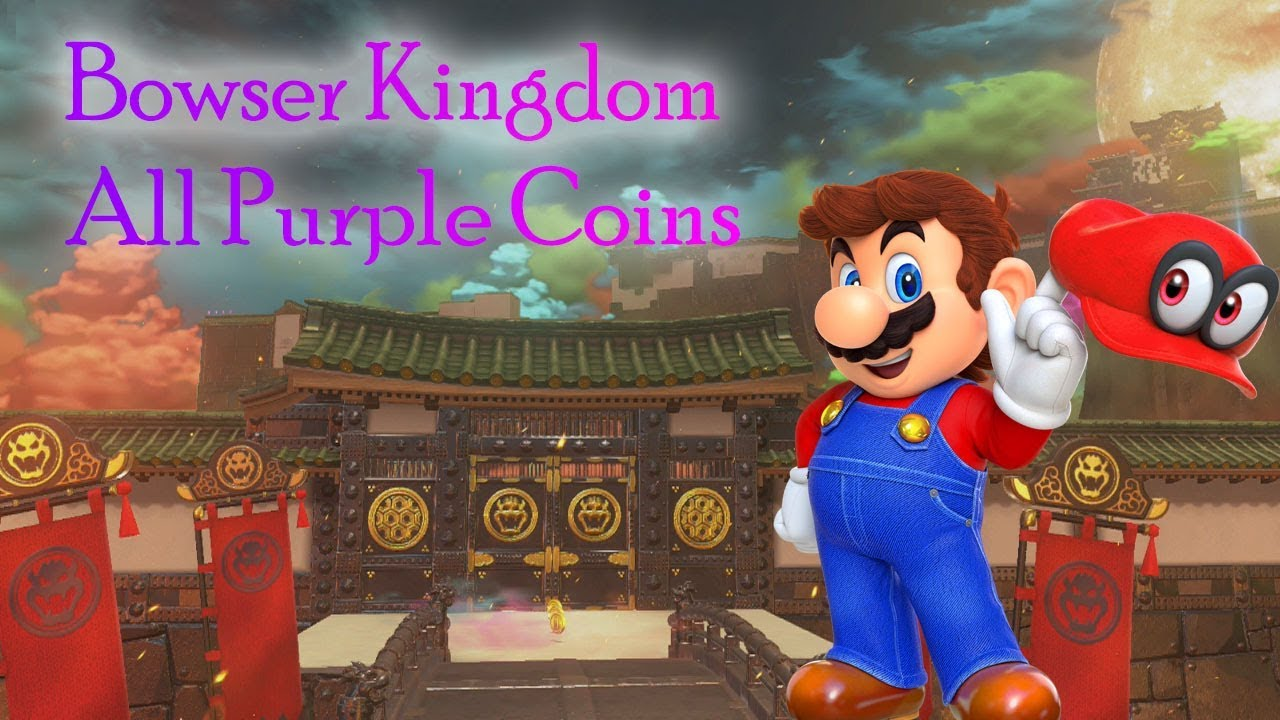 Super Mario Odyssey Bowser Kingdom All Purple Coins