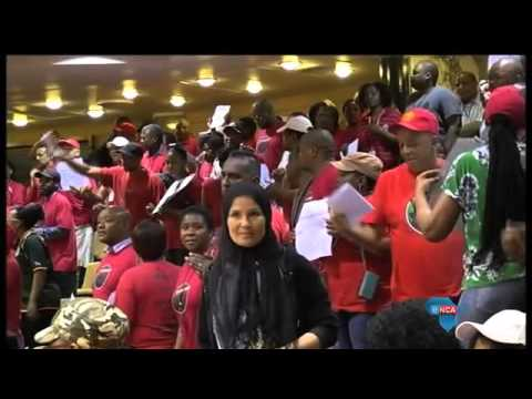 Nehawu members occupy National Assembly chamber