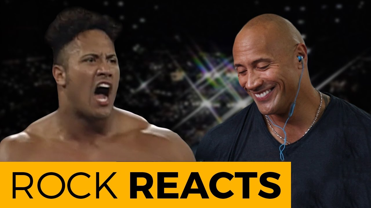 the rock reacts to his first wwe match 20 years of the rock youtube. Black Bedroom Furniture Sets. Home Design Ideas