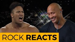 Repeat youtube video The Rock Reacts to His First WWE Match: 20 YEARS OF THE ROCK