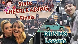 It's The State Cheerleading Championships + Driving Lessons: Gassing Up the Car