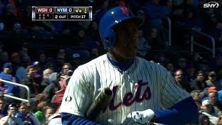 WSH@NYM: Granderson goes hitless in Mets' debut