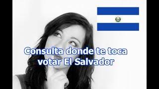 Consulta donde te toca votar 2018 en El Salvador