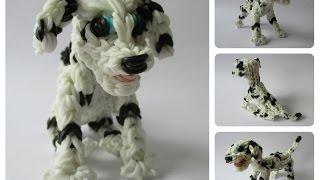 Rainbow Loom Dalmatian - Dalmatiër - Marshall Puppy Part 1/2 Loombicious