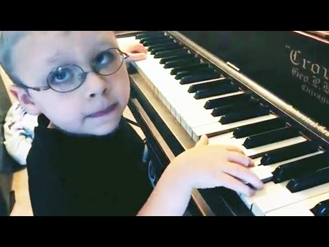 Lance Houston - Blind 6-Year-Old Pianist Will Blow You Away!
