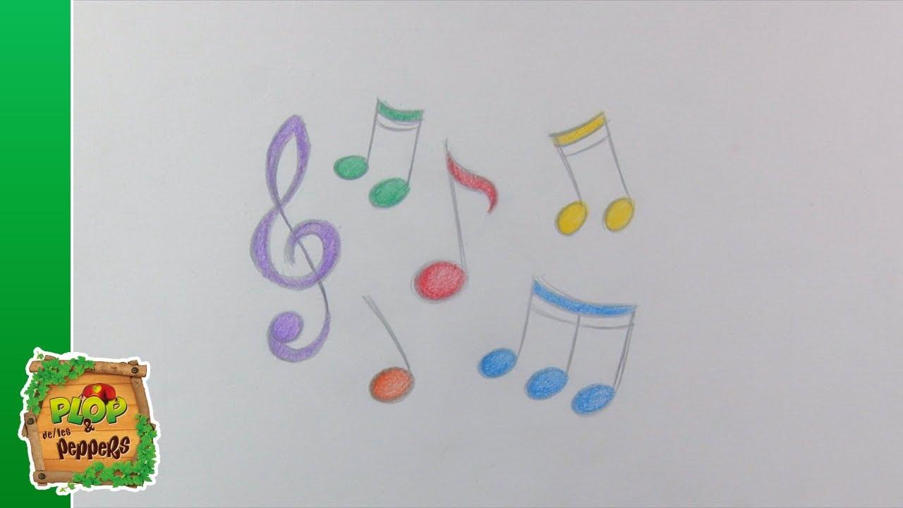 Tuto dessin les notes de musique dessine avec plop et - Note musique dessin ...