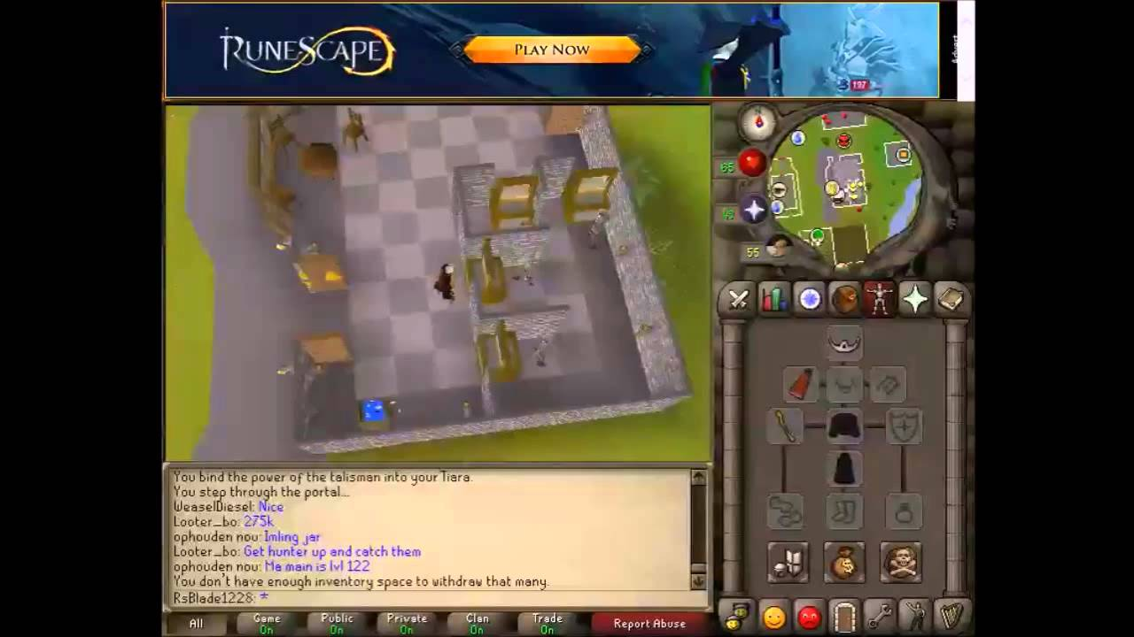 (May 2015) OSRS F2P Money Making Guide: Body Tiaras (Req 20 Rc)