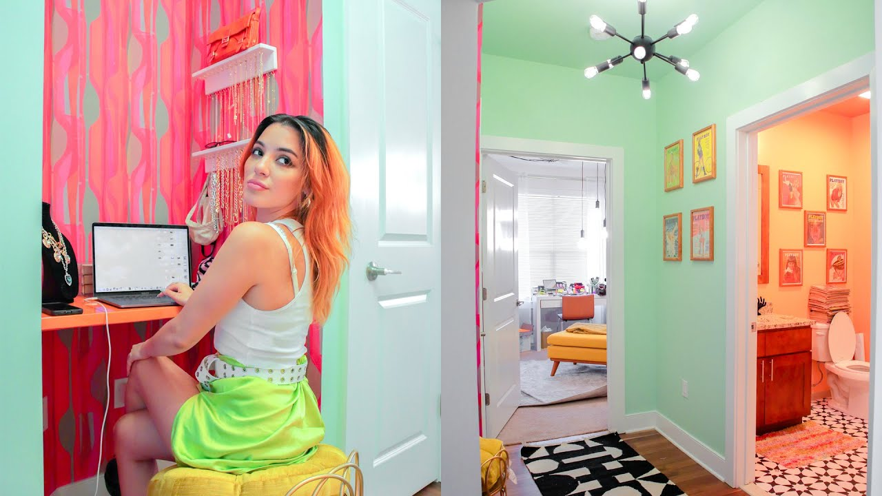 """i transformed my hallway into a GLAM """"get ready"""" suite! (apartment makeover)"""